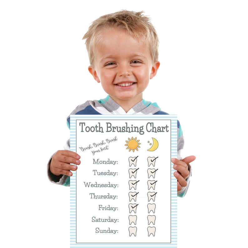 photograph regarding Printable Tooth Brushing Charts identify PRINTABLE- BOYS Enamel Brushing Chart- More youthful Kid/Newborn Enamel Brush Chart