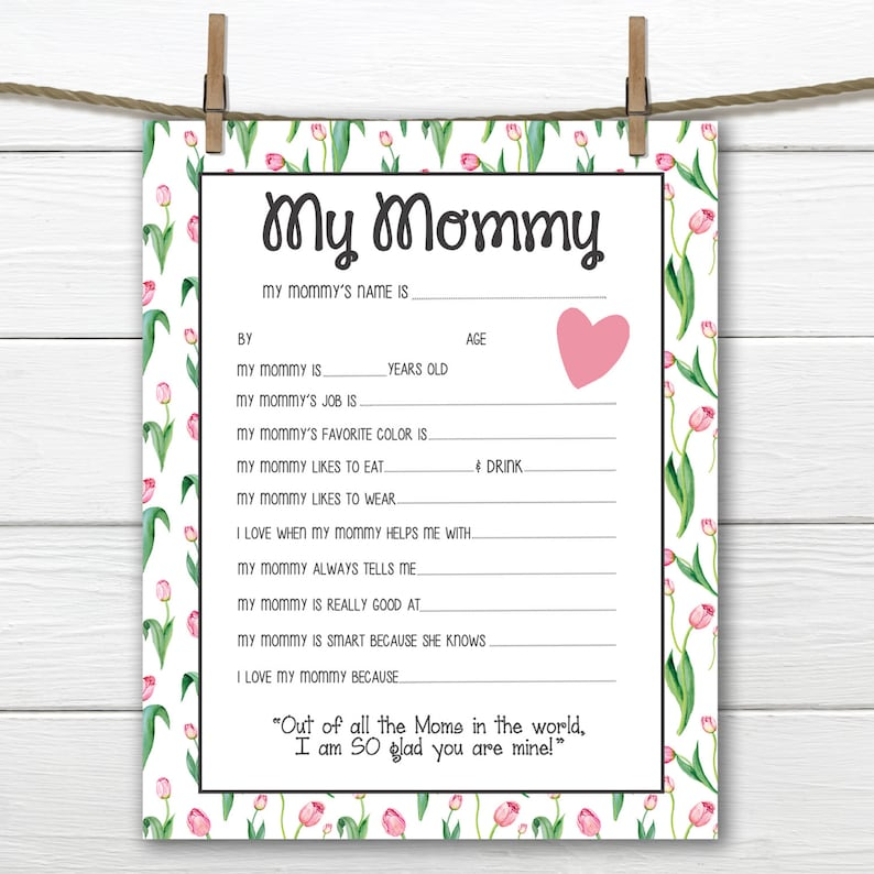 image relating to All About My Mom Printable called Tulips- All More than My Mommy Printable- Moms Working day/Mothers Birthday- Towards Youngster- Electronic Document