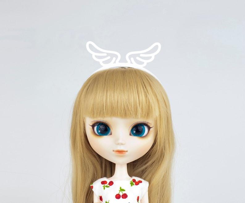 Angel Wings headband for Lati Yellow Lati White image 0