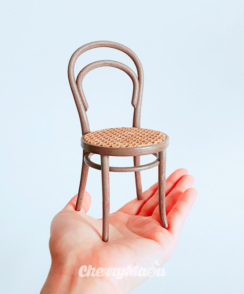 Chaise Thonet 14 Cannage Echelle 16 Miniature Pour Dollhouse