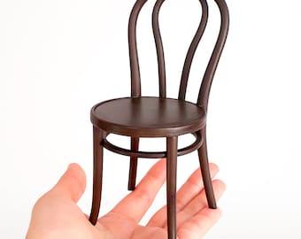 Thonet chair n18 scale 1/6, 3D print miniature for diorama, dollhouse & decoration