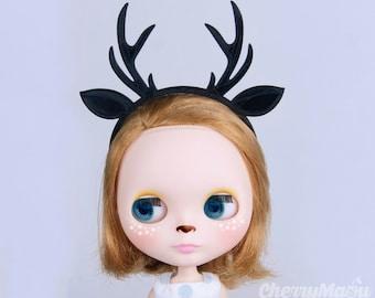 """Reindeer"" headband for Lati yellow, Lati white, Momoko, Pullip, Blythe, Dal, Yeolume, Byul, MSD, Kikipop, YoSD"