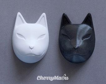 kitsa Mask Virgin/Blank Japanese fox for dolls Blythe, Pullip, BJDs
