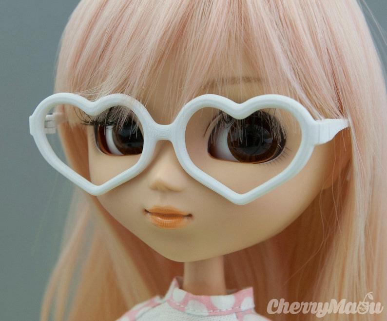 Heart glasses for Pullip doll 3D print image 0