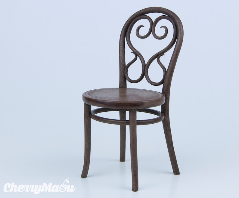 Thonet chair n4 scale 1/6 3D print miniature for diorama image 0
