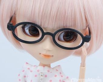 """Oval"" glasses for Pullip doll"