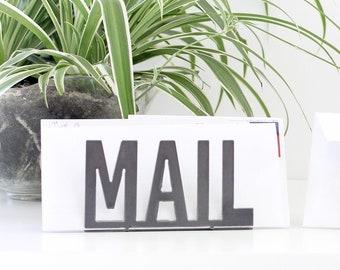 Metal Mail Organizer  |  organizer entryway organizer modern metal mail holder gift idea