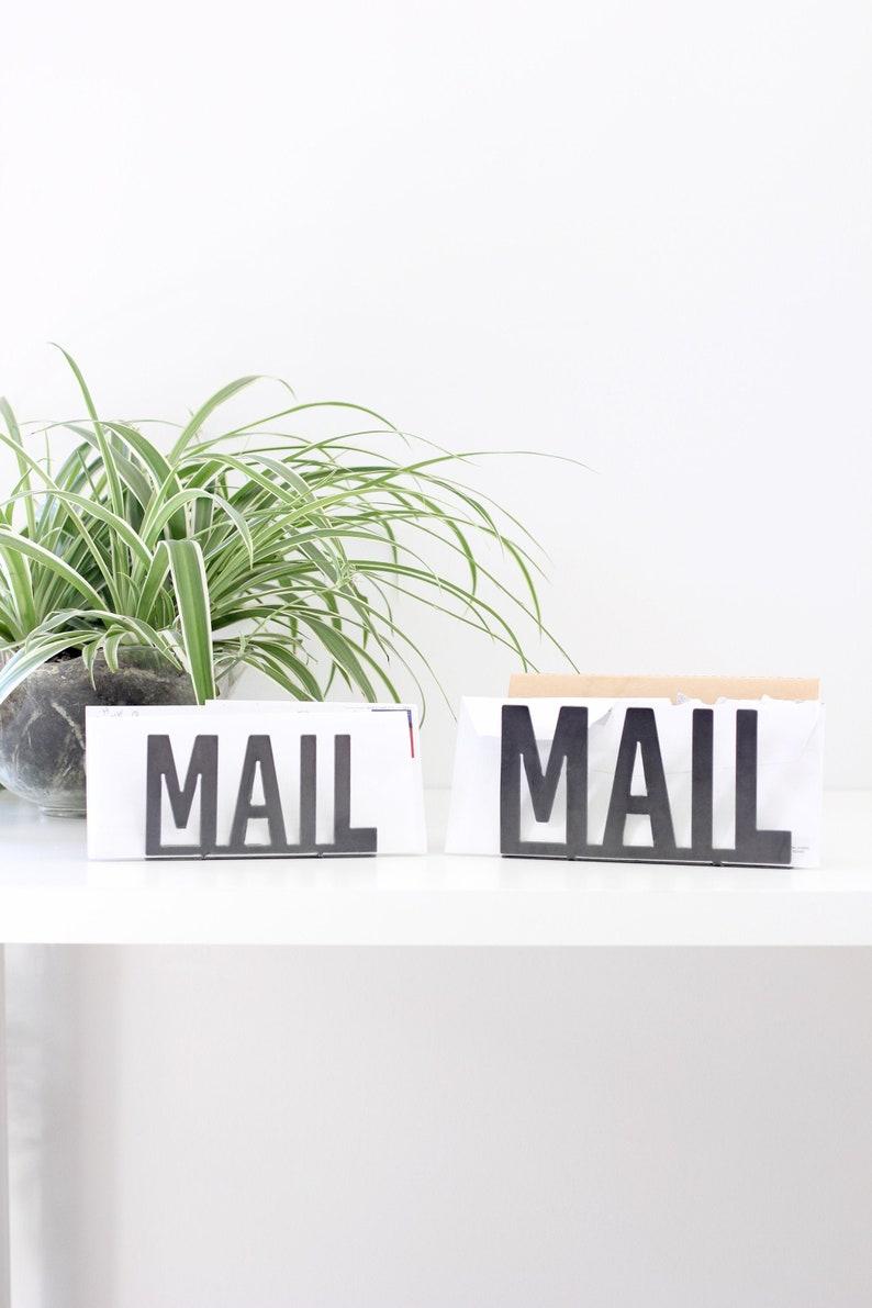 Metal Mail Organizer    organizer entryway organizer modern image 1