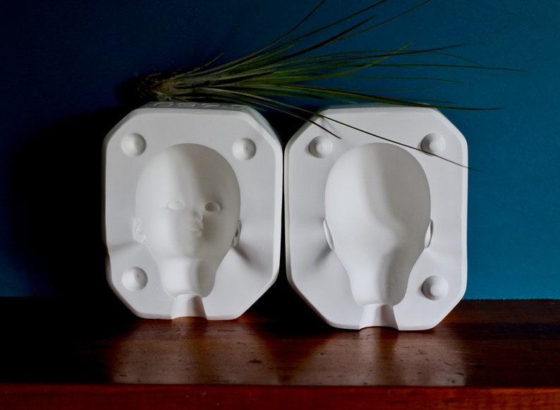 Baby's head mold - babydoll - teen doll mold - plaster mold - babydoll  parts - teen doll - doll head - baby mold - head mold - creepy doll
