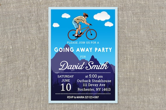 Going Away Party Invitations Going Away Party Invitation Etsy