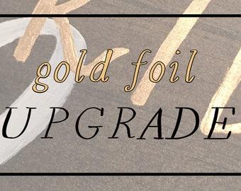 gold foil upgrade