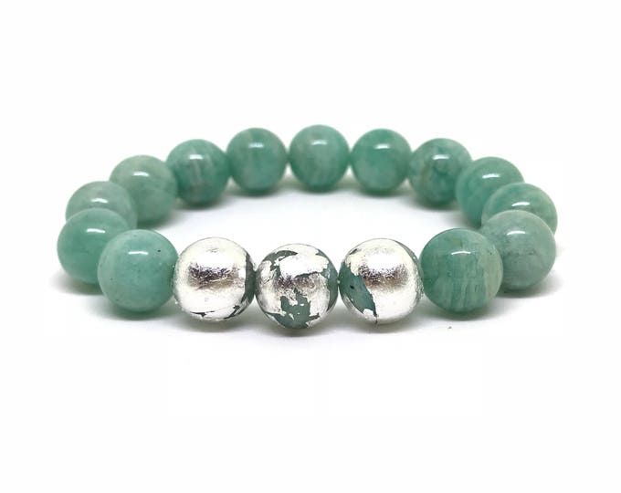 Sterling silver and amazonite bracelet
