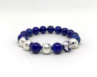 Lapis lazuli bracelet with Sterling silver