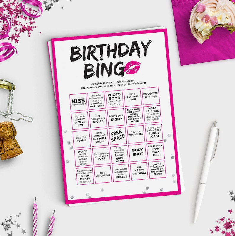 Fun Adult Birthday Game Bingo Scavenger Hunt