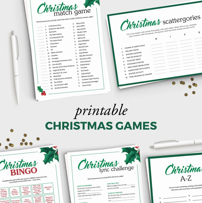image relating to Printable Christmas Games for Adults known as 5 Entertaining Family vacation Occasion Video games for Grownups - Printable Xmas Online games Offer - Prompt Down load - 5x7 Xmas Printable - Grownup Xmas Occasion
