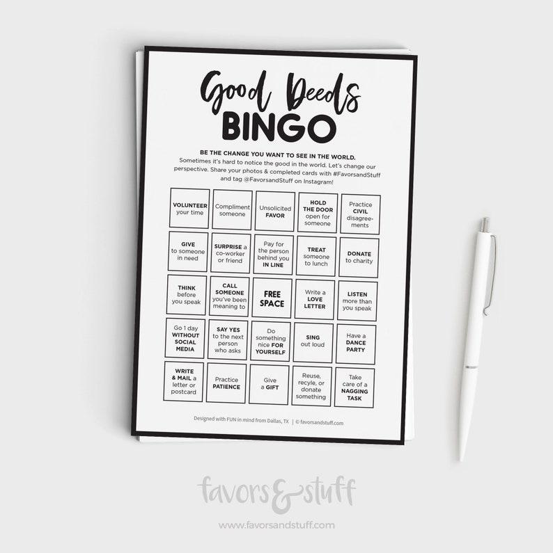 Good Deeds Bingo image 0