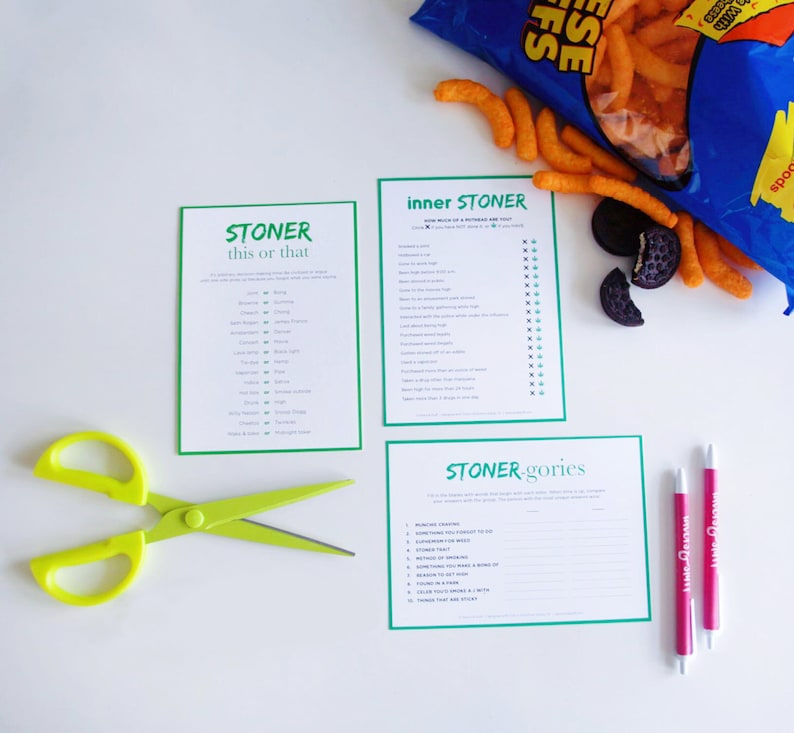 420 Party Bundle  3 Printable Games for Pot Lovers  Fun image 0