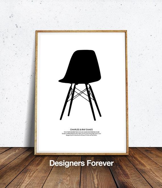 Pleasant Chair Print Chair Art Eames Chair Print Retro Print Modern Poster Eames Chair Poster Affiche Scandinave Minimalist Wall Art Gamerscity Chair Design For Home Gamerscityorg