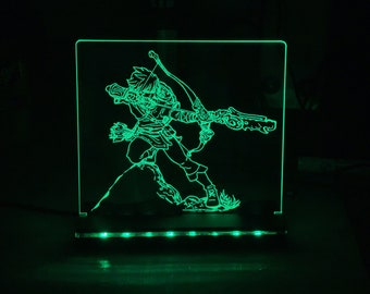 The Legend of Zelda Breath of Wild Link LED Illuminated night light perfect for desks, bars, man caves, dorms an