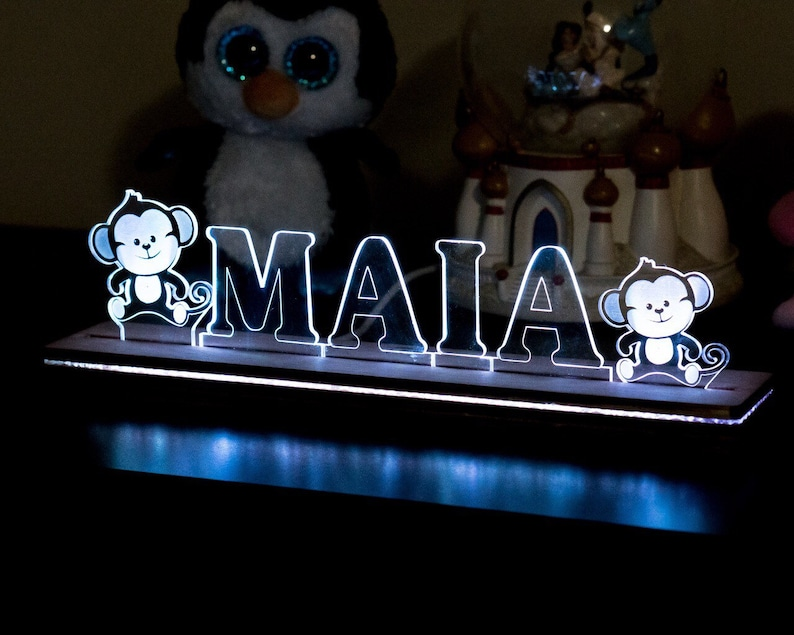 Personalized LED Illuminated name plate perfect for a nursery image 0