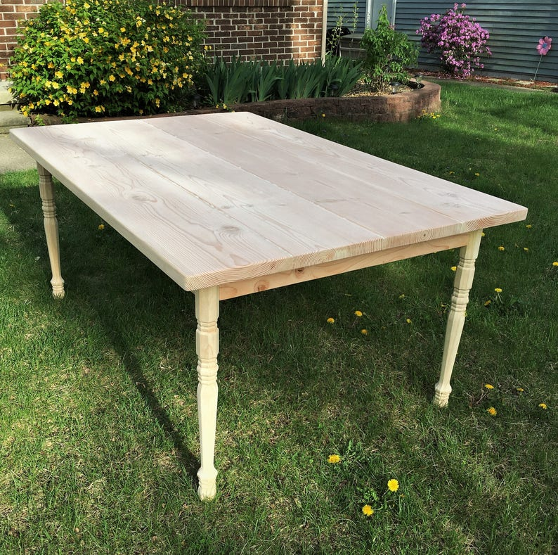 Brilliant Country Pine Dining Table Unfinished Bare Wood Lamtechconsult Wood Chair Design Ideas Lamtechconsultcom
