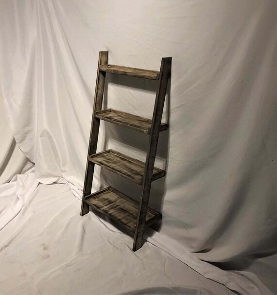 the latest 46fbf a0169 Mini Distressed Wood Ladder Shelf (Wall Mounted)