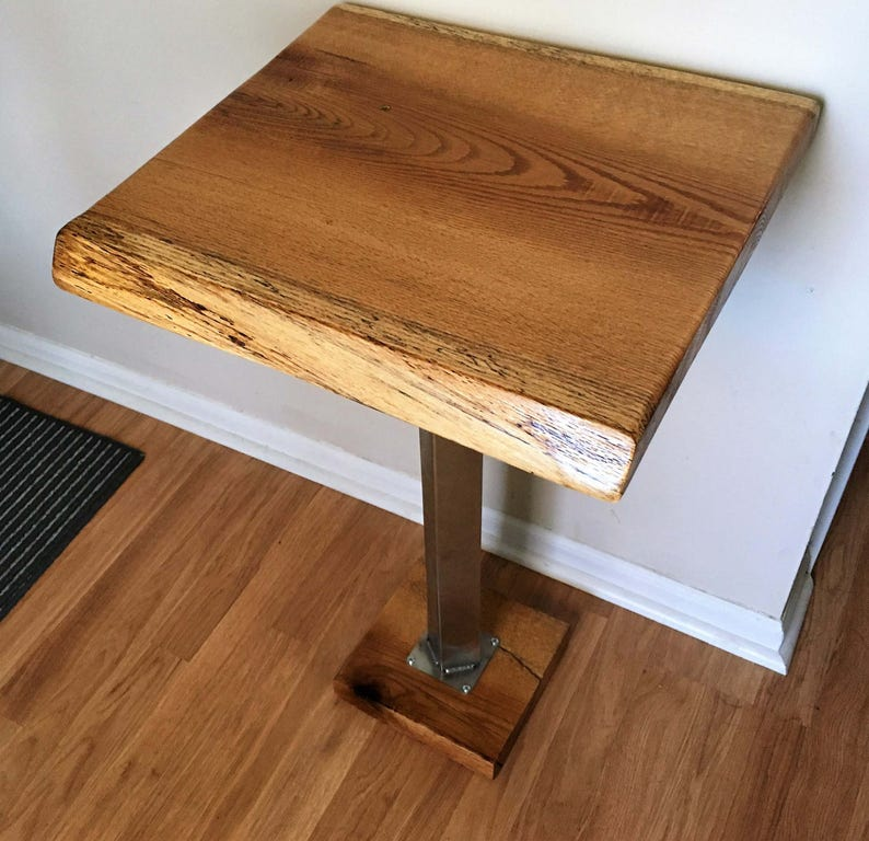 Wondrous Red Oak Live Edge Planter Table Side Table Download Free Architecture Designs Crovemadebymaigaardcom