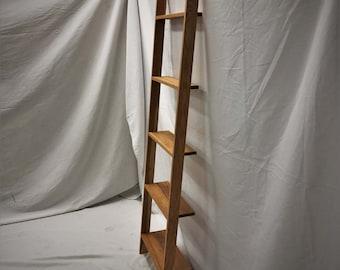 Hardwood Ladder Shelf (Wall Mounted)