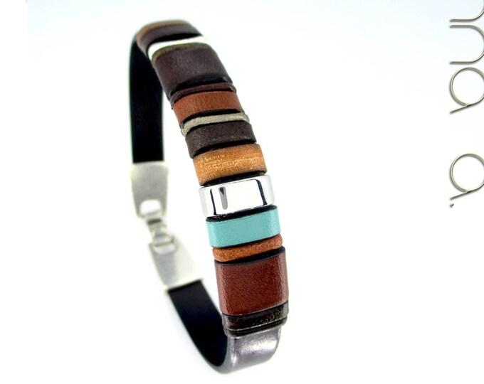 Brown leather bracelet, Enna Clasic N 11, Leather wristbands, men accessories, men bracelets, luxe accessories, fashion accessories, leather