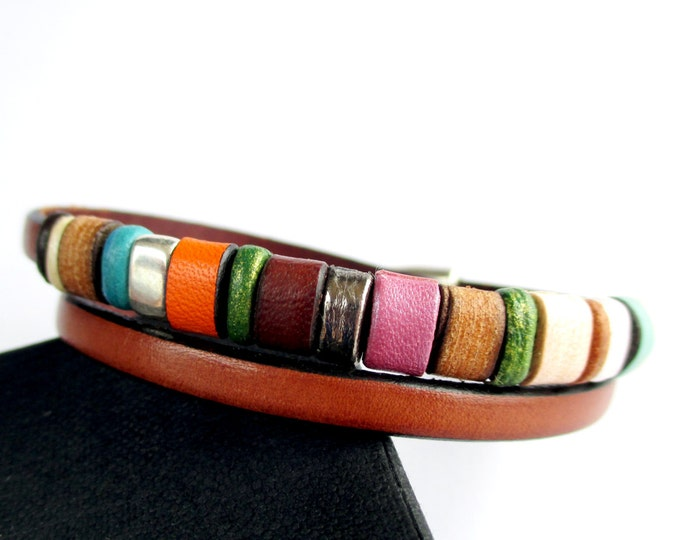 Leather bracelet colors Enna Clasic N. 18