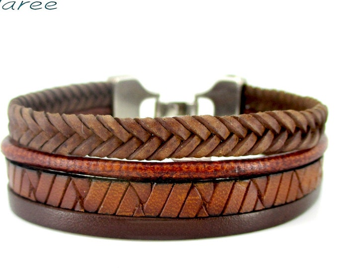 Brown leather bracelet, men wristbands, birthday gift, man gifts, exclusive design, man wallet, leather accesories, mens accesories