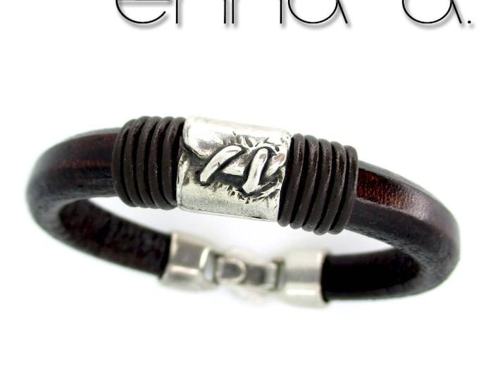 Brown leather bracelet, men wristband, birthday gift, man gifts, exclusive design, man wallet, father day gift, leather bracelet, presents,