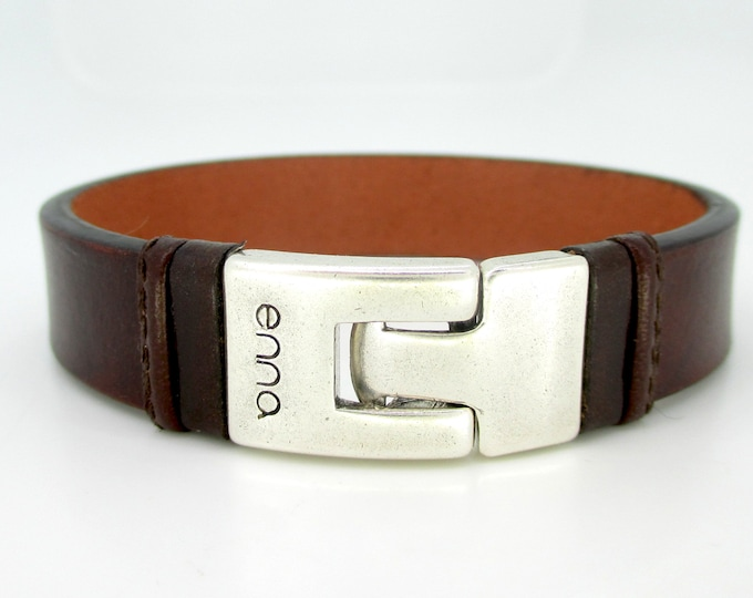 Brown leather bracelet, man bracelet, male style, anniversary gifts, birthday, Christmas