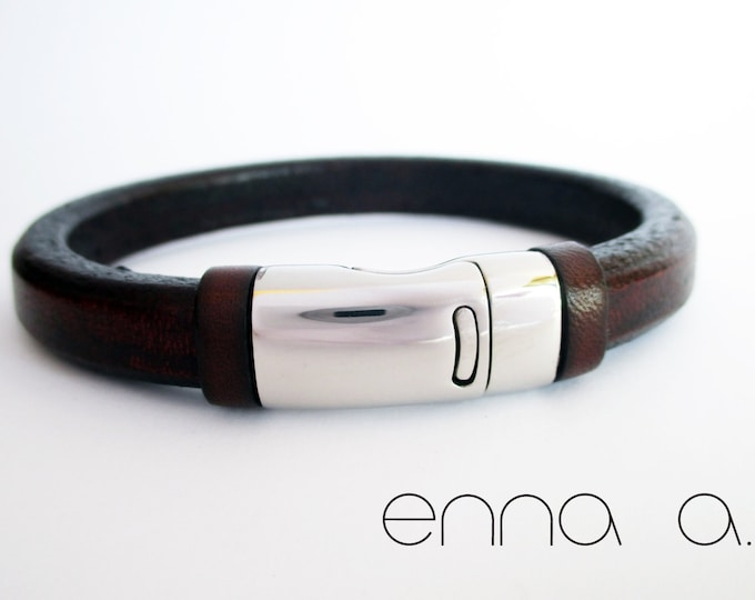 Licorice brown leather bracelet, leather bracelet, men wristband, birthday gift, man gifts, leather bracelet, accessories for man, wristband