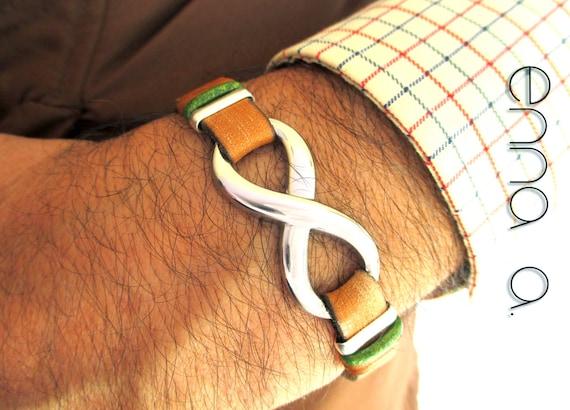 Infinity Bracelet, N 1, leather Bracelet, man Bracelet, man Accessories, leather wristband, man gifts, infinity wristband, Father's Day Gift