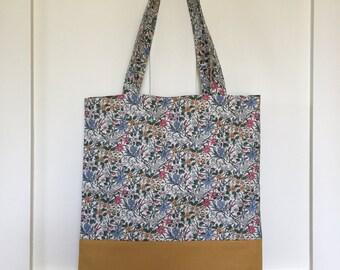 Market bag, floral bag, Liberty fabric bag, womens market bag, gift for her, bag for her, double sided bag, lightweight bag, fabric bag,