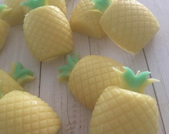 Pineapple Soaps, Mini Pineapple Soaps, Novelty Guest Soaps,Fruit Soaps,Pineapples,Tropical