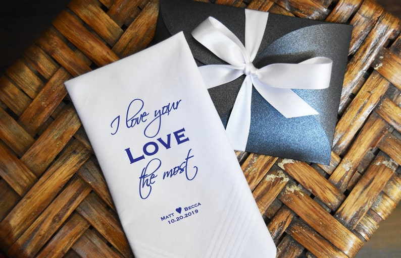 Groom Gifts FREE Gift Cases with Each Purchase!! Custom Wedding Hankies Groom Printed Wedding Handkerchief from the Bride Wedding Favors