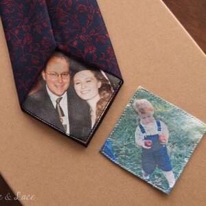 père de la jeune mariée Personnalisé Skinny Cravate Patch iron on patch