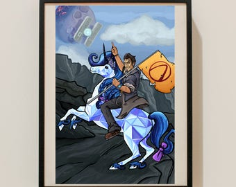 Hail to the King, Handsome Jack Buttstallion Borderlands 2 Poster Print