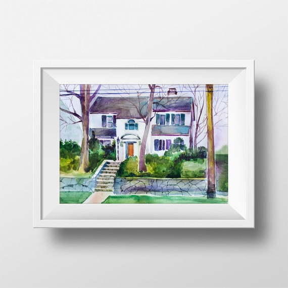 Wall Art Betty Cooper House Watercolor Print,Riverdale Tv Show,Betty  Cooper,Riverdale Tv Series,Printable,Room Decor,Fan Gift,Digital Print