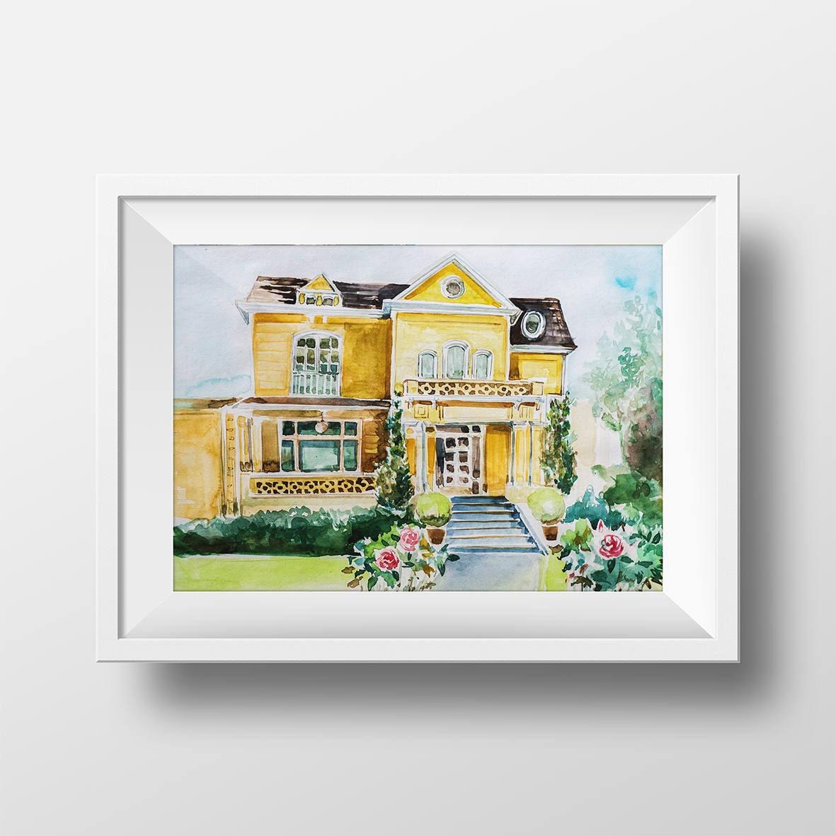 50 Wall Art Watercolor Gabrielle Solis House