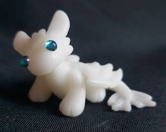 cute light fury necklace light fury dragon gift for dragon etsy