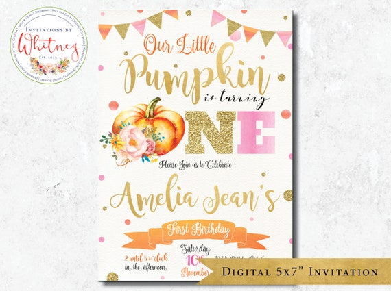 our little pumpkin invitation pumpkin invitation first etsy
