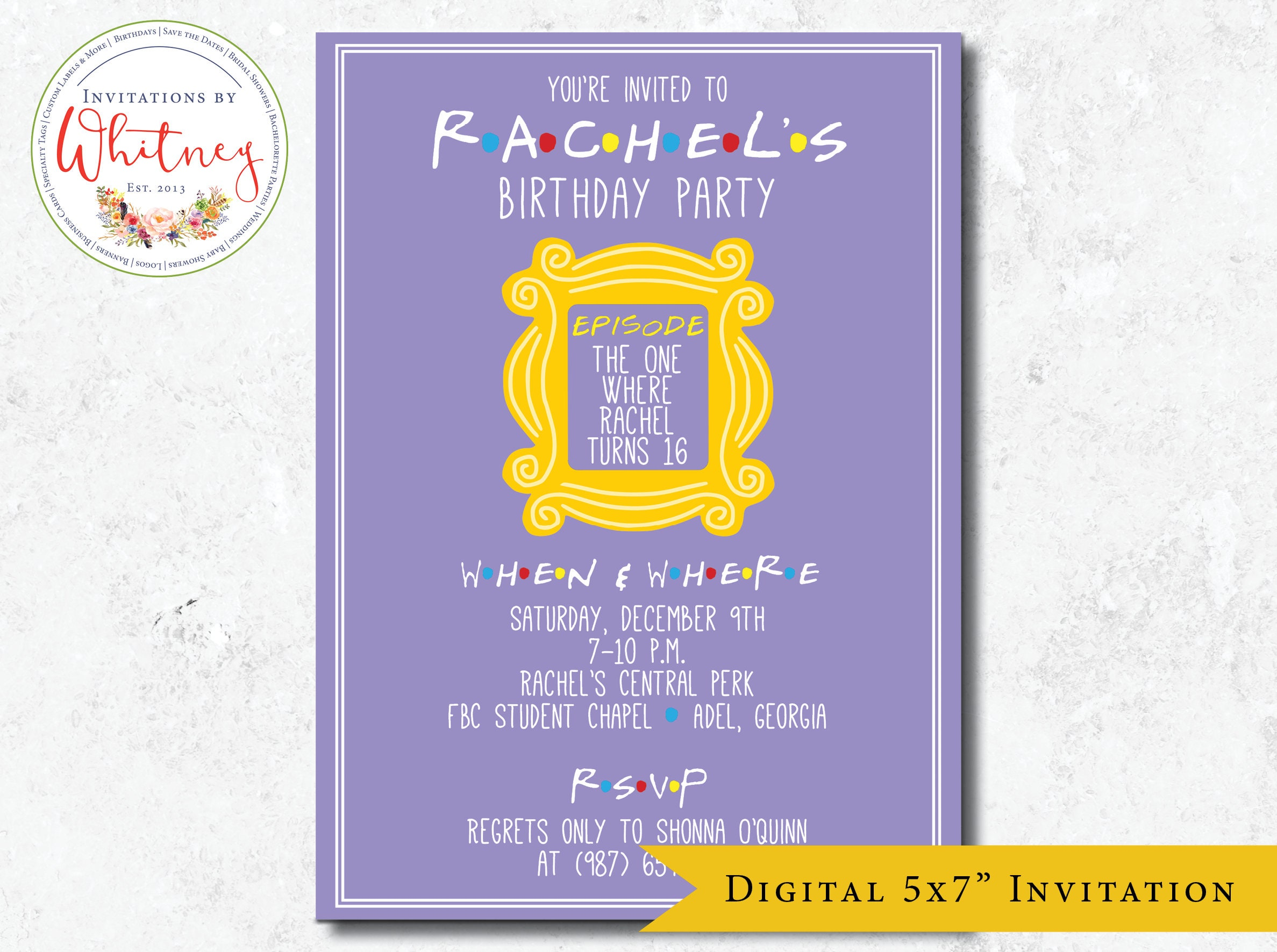 Friends Birthday Party Invitation