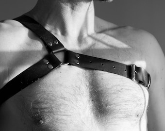 """NEW """"And THE"""" leather Fetish harness"""