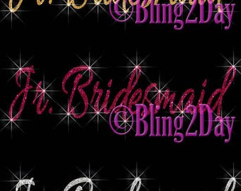 Aunt of the Bride Glitter Iron on Vinyl//Rhinestone Transfer Bridesmaid DIY