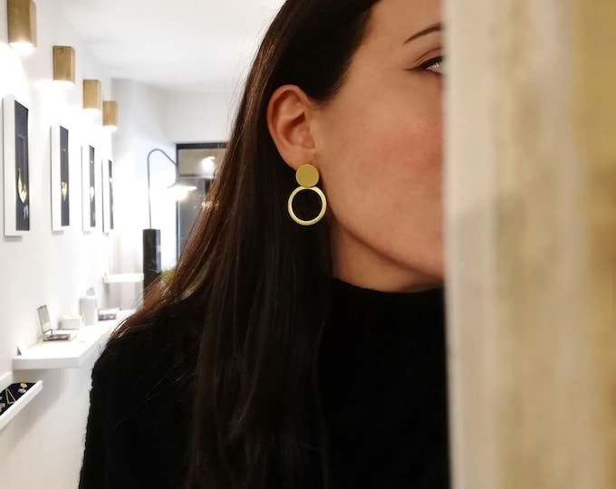 Minimal Geometric Earrings