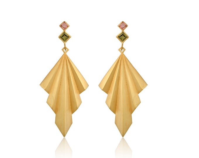Precious Colours Double Folds Earrings