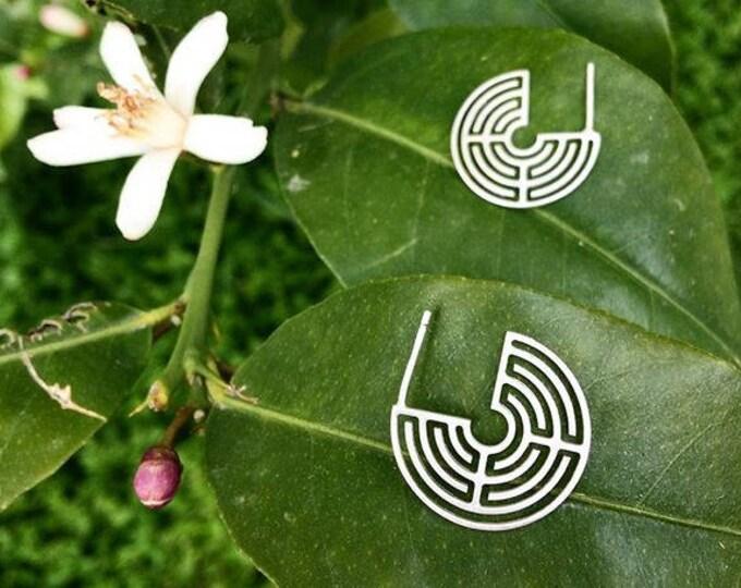Hoop Labyrinth 270ᵒ Earrings